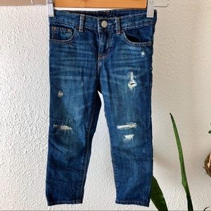GAP baby distressed girlfriend jeans